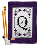 Classic Q Initial - Simply Beauty Interests Vertical Impressions Decorative Flags HG130017 Made In USA