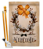 Welcome Southern With Grace - Southern Country & Primitive Vertical Impressions Decorative Flags HG137005 Made In USA