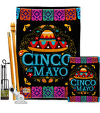 Picado Cinco de Mayo - Southwest Country & Primitive Vertical Impressions Decorative Flags HG115138 Made In USA