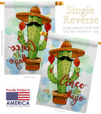 Mr Cactus Cinco de Mayo - Southwest Country & Primitive Vertical Impressions Decorative Flags HG115130 Made In USA
