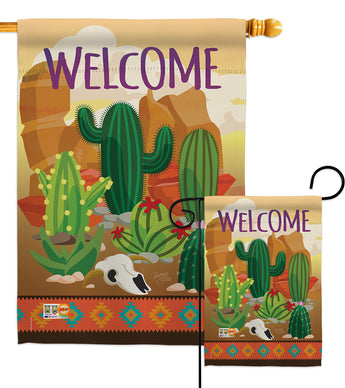 Cactus - Southwest Country & Primitive Vertical Impressions Decorative Flags HG115111 Made In USA