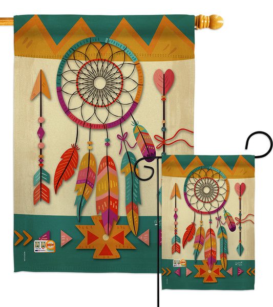 Tribal Dreamcatcher - Southwest Country & Primitive Vertical Impressions Decorative Flags HG137036 Made In USA