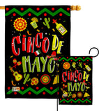 Ready to Cinco de Mayo - Southwest Country & Primitive Vertical Impressions Decorative Flags HG137043 Made In USA