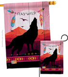 Stay Wild - Southwest Country & Primitive Vertical Impressions Decorative Flags HG137018 Made In USA