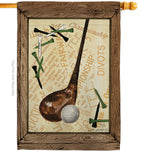Strike A Golf Ball - Sports Interests Vertical Impressions Decorative Flags HG109059 Made In USA