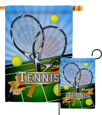 Tennis - Sports Interests Vertical Impressions Decorative Flags HG109002 Made In USA
