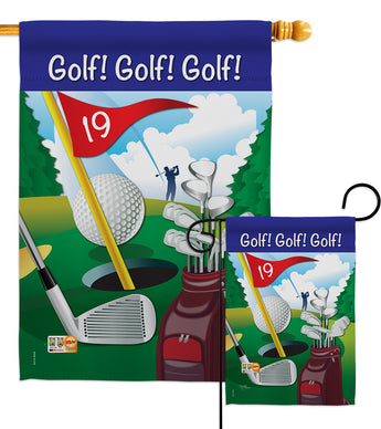 Golf!, Golf!, Golf! - Sports Interests Vertical Impressions Decorative Flags HG109043 Made In USA