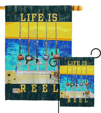 Life Is Reel - Sports Interests Vertical Impressions Decorative Flags HG109058 Made In USA