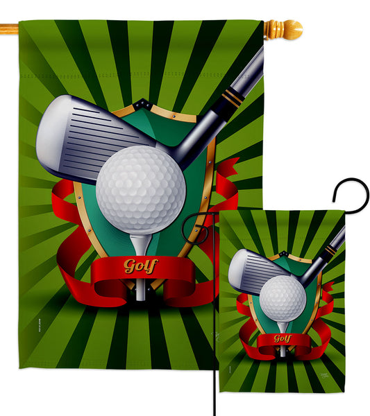 Swing Golf - Sports Interests Vertical Impressions Decorative Flags HG109081 Made In USA