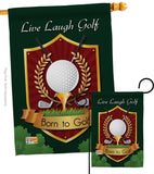 Live, Laugh, Golf - Sports Interests Vertical Impressions Decorative Flags HG109042 Made In USA