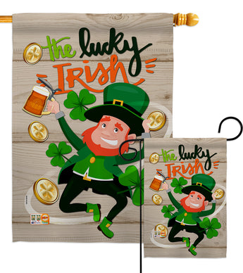 The Lucky Irish - St Patrick Spring Vertical Impressions Decorative Flags HG102059 Made In USA
