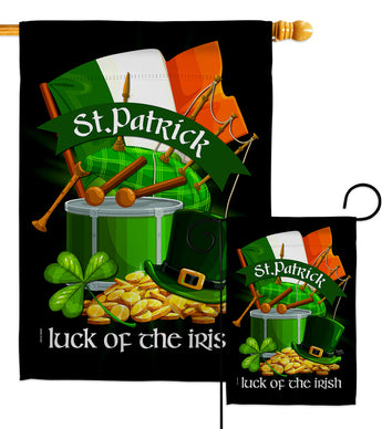 Luck of the Irish - St Patrick Spring Vertical Impressions Decorative Flags HG102063 Made In USA