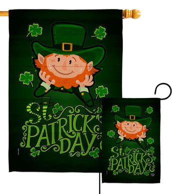 Lucky Leprechaun - St Patrick Spring Vertical Impressions Decorative Flags HG192417 Made In USA