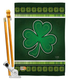 Shamrock - St Patrick Spring Vertical Impressions Decorative Flags HG102026 Made In USA