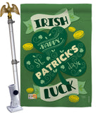 Irish Luck - St Patrick Spring Vertical Impressions Decorative Flags HG102035 Made In USA