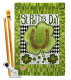 Luck of the Irish Clover - St Patrick Spring Vertical Impressions Decorative Flags HG102053 Made In USA