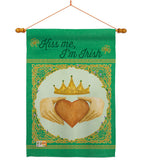 Kiss Me, I'm Irish - St Patrick Spring Vertical Impressions Decorative Flags HG102057 Made In USA