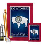 Wyoming - States Americana Vertical Impressions Decorative Flags HG108189 Made In USA