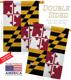 Maryland - States Americana Vertical Impressions Decorative Flags HG108102 Made In USA
