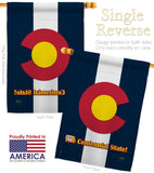 Colorado - States Americana Vertical Impressions Decorative Flags HG108104 Made In USA