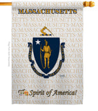Massachusetts - States Americana Vertical Impressions Decorative Flags HG108116 Made In USA