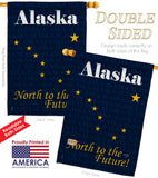 Alaska - States Americana Vertical Impressions Decorative Flags HG108135 Made In USA