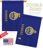 Kansas - States Americana Vertical Impressions Decorative Flags HG140517 Made In USA