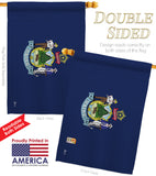 Maine - States Americana Vertical Impressions Decorative Flags HG140520 Made In USA