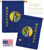 Montana - States Americana Vertical Impressions Decorative Flags HG140527 Made In USA