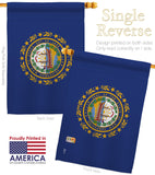 New Hampshire - States Americana Vertical Impressions Decorative Flags HG140530 Made In USA