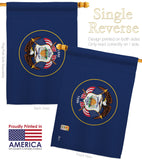 Utah - States Americana Vertical Impressions Decorative Flags HG140545 Made In USA