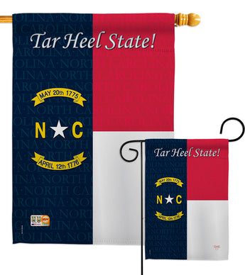 North Carolina - States Americana Vertical Impressions Decorative Flags HG108087 Made In USA