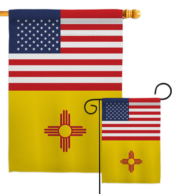US New Mexico - States Americana Vertical Impressions Decorative Flags HG140786 Made In USA