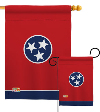 Tennessee - States Americana Vertical Impressions Decorative Flags HG191543 Made In USA