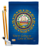 New Hampshire - States Americana Vertical Impressions Decorative Flags HG108145 Made In USA