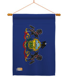 Pennsylvania - States Americana Vertical Impressions Decorative Flags HG140539 Made In USA