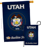 Utah - States Americana Vertical Impressions Decorative Flags HG108114 Made In USA