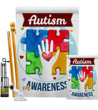 Hope for Autism Awareness - Support Inspirational Vertical Impressions Decorative Flags HG137047 Made In USA