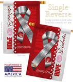 Diabetes - Support Inspirational Vertical Impressions Decorative Flags HG115097 Made In USA