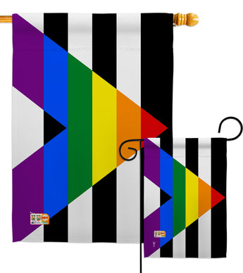 Straight Allies For Equality - Support Inspirational Vertical Impressions Decorative Flags HG148023 Made In USA