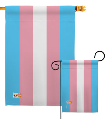 Transgender - Support Inspirational Vertical Impressions Decorative Flags HG148024 Made In USA