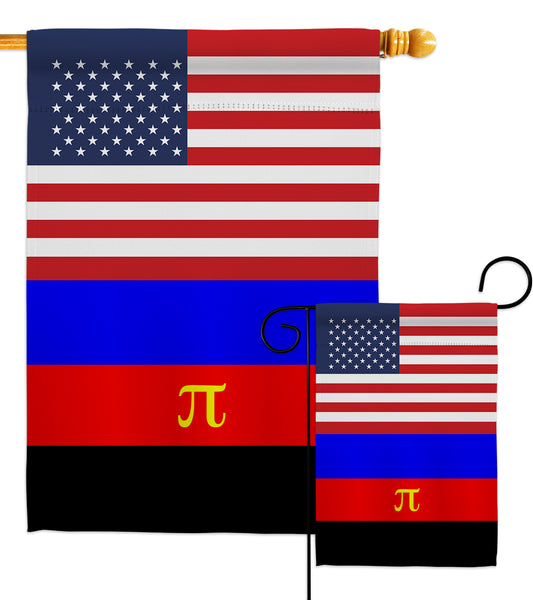 US Polyamory flag - Support Inspirational Vertical Impressions Decorative Flags HG148044 Made In USA