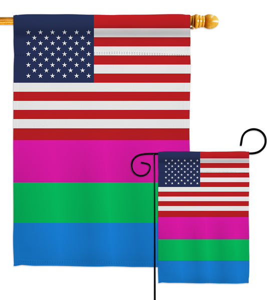 US Polysexuality - Support Inspirational Vertical Impressions Decorative Flags HG148045 Made In USA