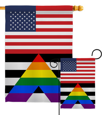 US Straight Allies For Equality - Support Inspirational Vertical Impressions Decorative Flags HG148048 Made In USA