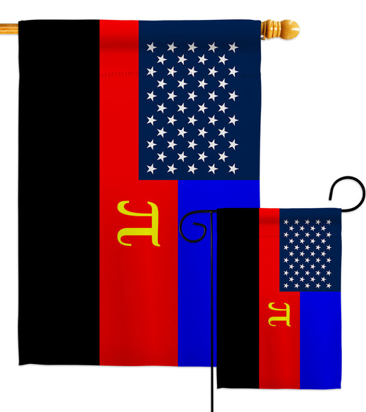 US Polyamory Flag - Support Inspirational Vertical Impressions Decorative Flags HG148659 Made In USA