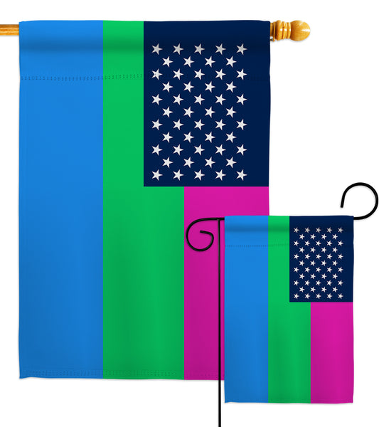 US Polysexuality - Support Inspirational Vertical Impressions Decorative Flags HG148660 Made In USA