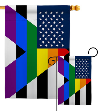 US Straight Allies For Equality - Support Inspirational Vertical Impressions Decorative Flags HG148663 Made In USA