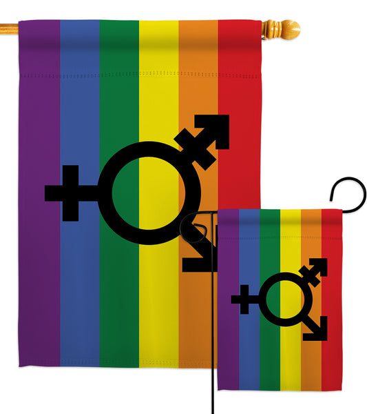 Transgender Pride - Support Inspirational Vertical Impressions Decorative Flags HG148673 Made In USA