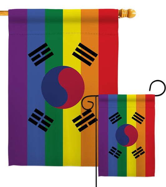 South Korea Pride - Support Inspirational Vertical Impressions Decorative Flags HG148675 Made In USA