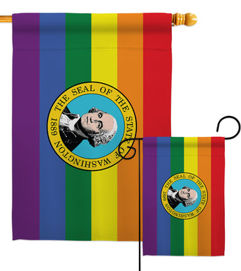 Washington Pride - Support Inspirational Vertical Impressions Decorative Flags HG148683 Made In USA